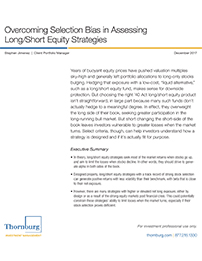 Overcoming Selection Bias in Assessing Long/Short Equity Strategies