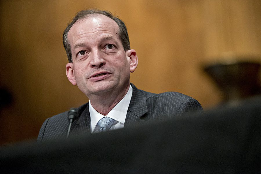 Departure of Alexander Acosta could slow DOL effort to revise fiduciary rule - InvestmentNews