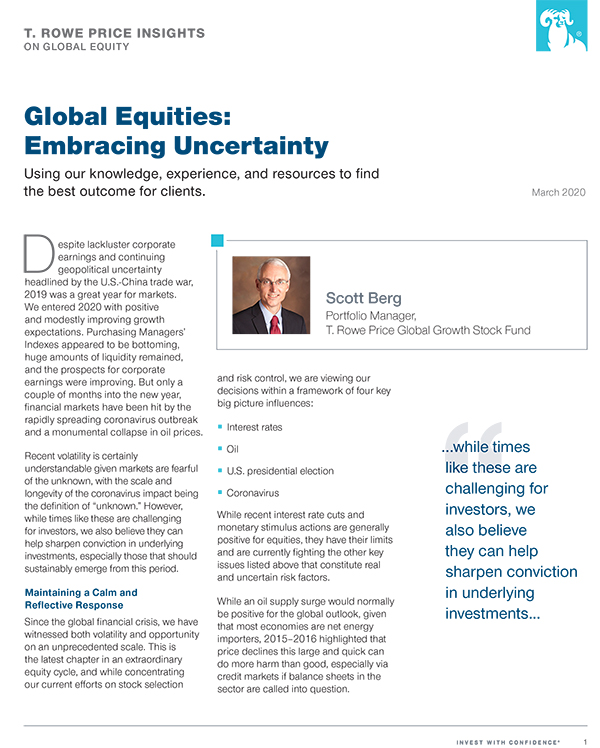 Global Equities: Embracing Uncertainty