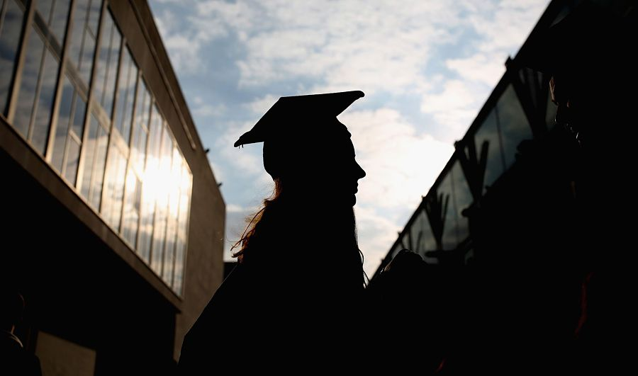 college grad silhouette