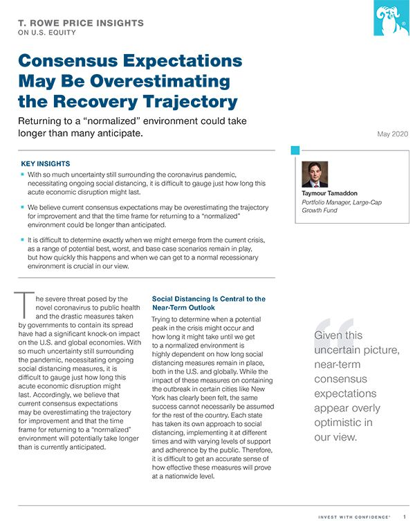 Consensus Expectations May Be Overestimating the Recovery Trajectory