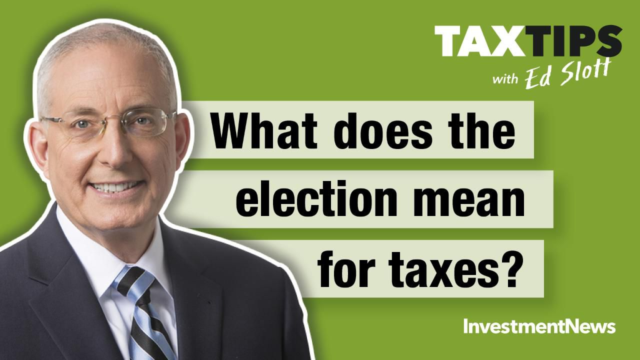 What does the election mean for taxes?