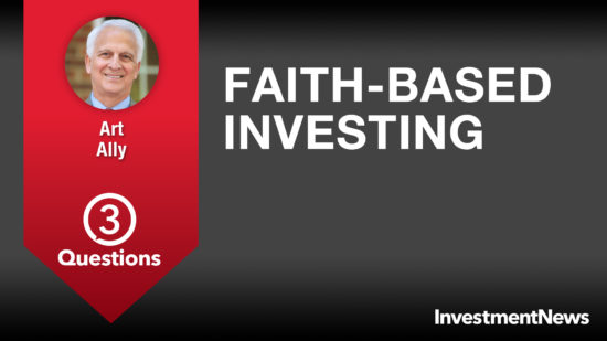3 Questions: Art Ally on faith-based investing