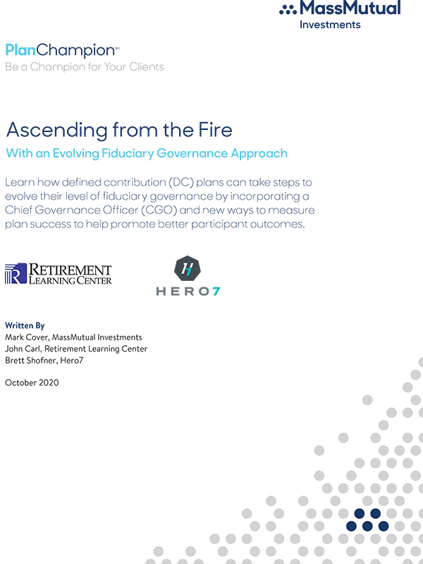 Ascending from the fire with an evolving fiduciary approach
