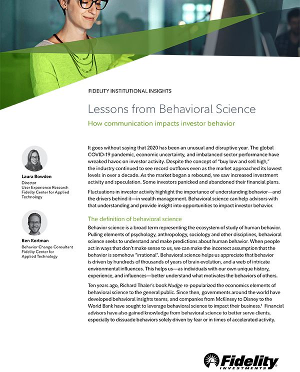 Lessons from Behavioral Science: How Communication Impacts Investor Behavior