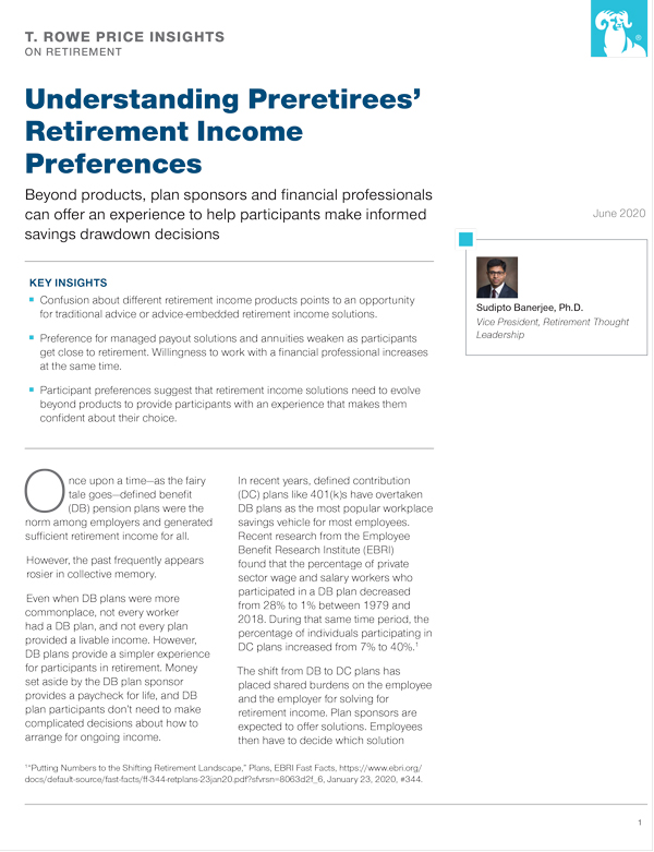 Understanding retirement income preferences