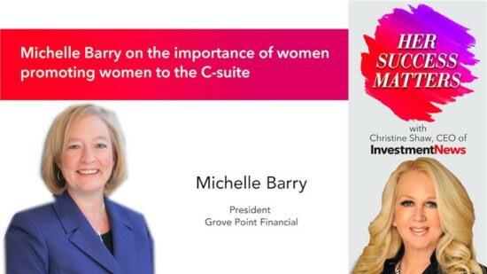 Michelle Barry on the importance of women promoting women to the C-suite