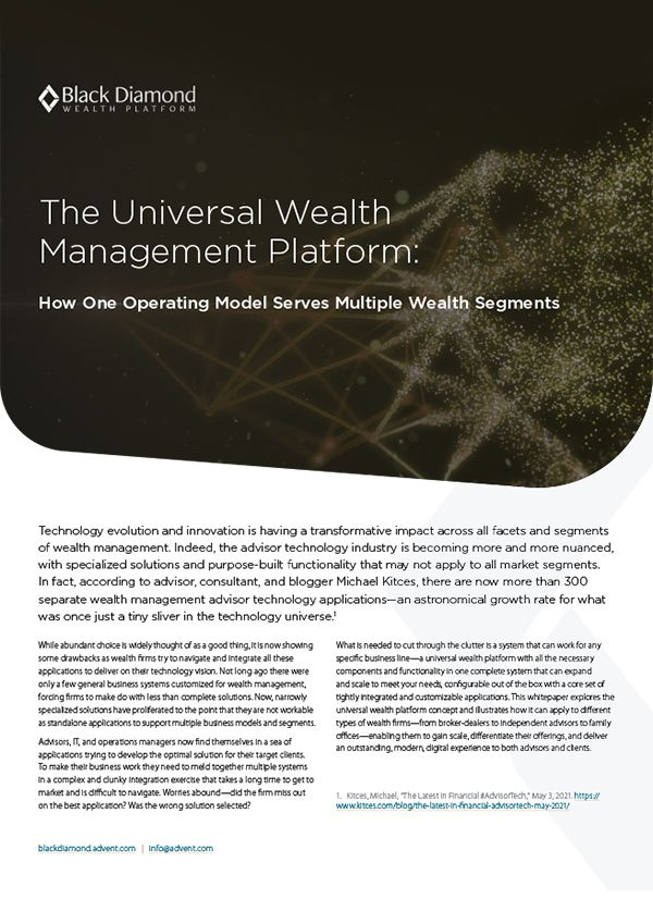 How One Operating Model Serves Multiple Wealth Segments