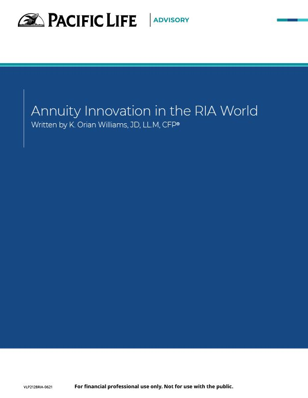 Annuity innovation in the RIA world