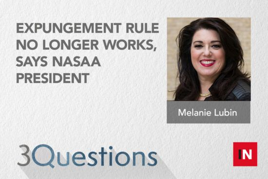 Expungement rule no longer works, says NASAA president